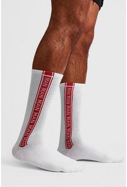 Mens Red 2 Pack MAN Repeat Sock