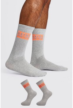 Mens Grey 2 Pack MAN DASH Sock