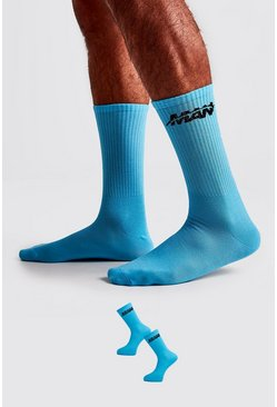 Blue 2 Pack MAN Orbit Socks
