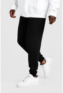 Mens Black MAN Signature Loose Fit Jogger