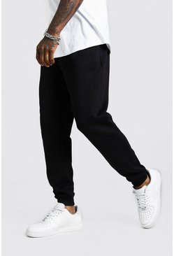 Mens Black Basic Loose Fit Jogger