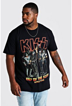 T-shirt Kiss End Of The Road officiel Grandes Tailles, Noir, Homme