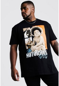 Mens Black Big And Tall Notorious Baby Big License T-Shirt
