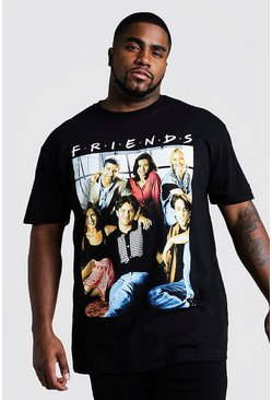 Mens Black Big And Tall Friends Cast License T-Shirt