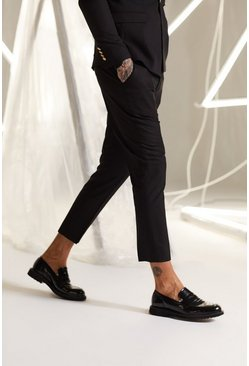 Mens Black Slim Fit Suit Trousers
