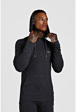 Charcoal MAN Muscle Fit Basic Active Hoodie
