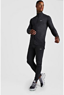 Charcoal MAN Active Skinny Fit Tracksuit
