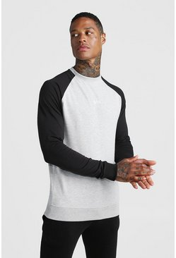 Grey MAN Skinny Fit Active Sweater