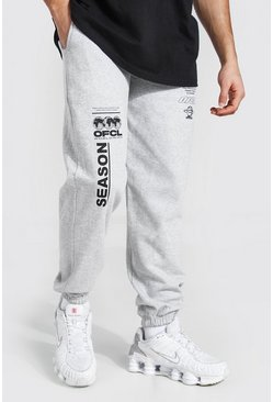 Grey marl Official Graphic Print Jogger
