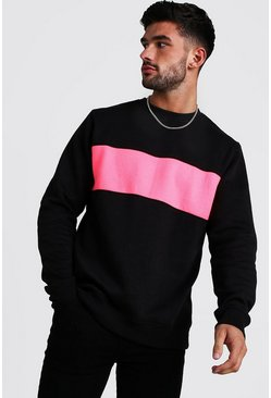 Mens Neon-pink Long Sleeve Narcos License T-Shirt