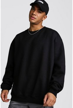Mens Black Fleece Oversized Sweatshirt
