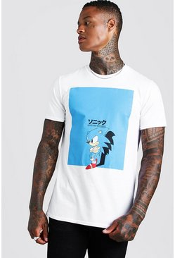 T-shirt Sonic officiel, Blanc, Homme