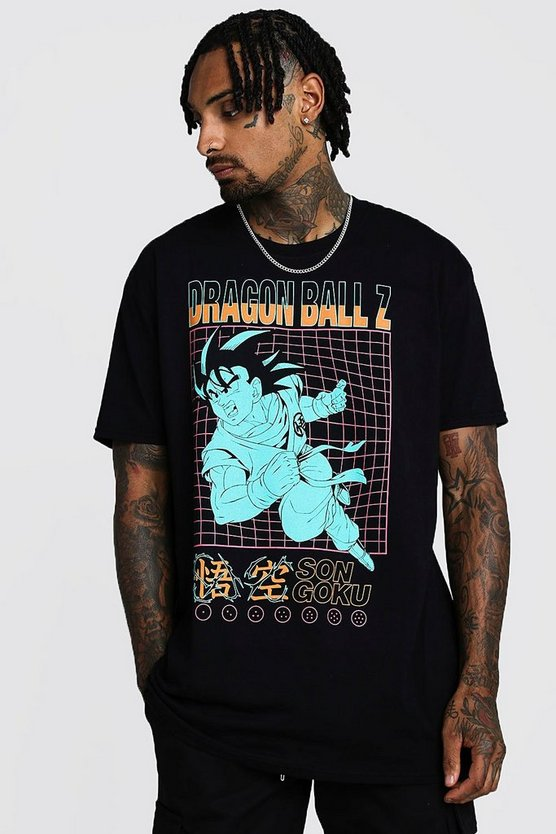 T-shirt oversize Dragon Ball Z, Noir, Homme