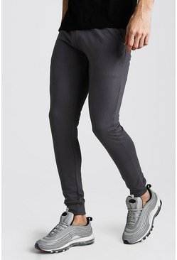 Mens Charcoal Super Skinny Jogger
