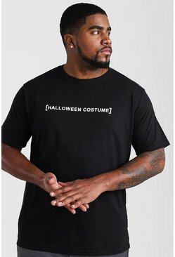 Mens Black Big And Tall Halloween Costume T-Shirt