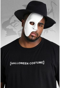 Mens White Halloween Half Face Mask