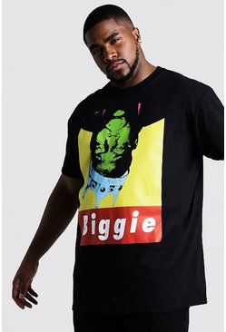 T-Shirt Biggie officiel à l'envers big and tall, Noir, Homme