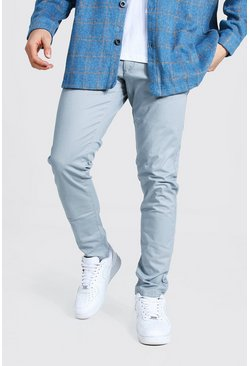 Grey Slim Fit Chino