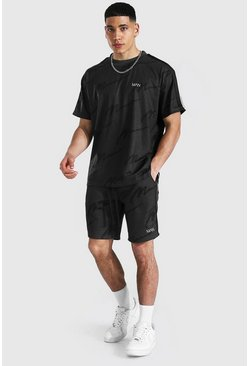 T-shirt oversize et short - MAN, Charcoal