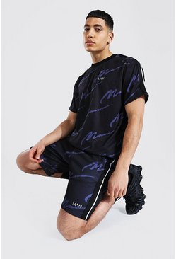 T-shirt oversize et short - MAN, Black