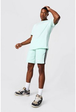 T-shirt oversize et short - Official MAN, Light green