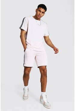 T-shirt oversize et short - Official MAN, Light pink