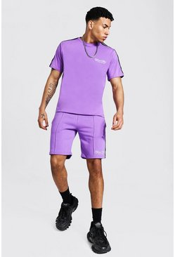 T-shirt oversize et short - Official MAN, Lilac