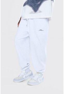 Ash grey Loose Man Signature Joggers