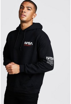 Mens Black NASA License Hoodie
