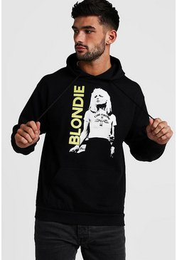 Mens Black Blondie License Hoodie