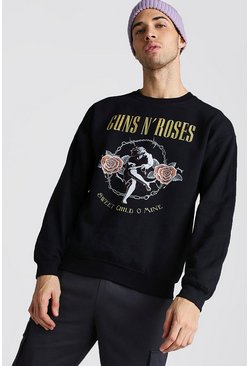 Black Guns & Roses License Sweatshirt