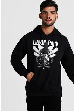 Mens Black Linkin Park License Hoodie
