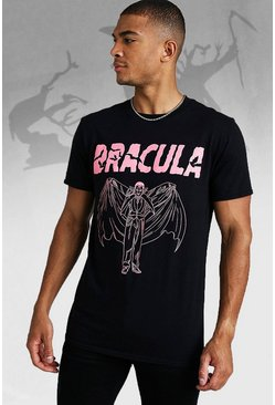 Mens Black Dracula License T-Shirt