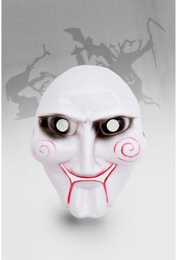 Mens White Halloween Puppet Mask