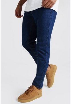 Mens Dark blue Slim Rigid Jeans