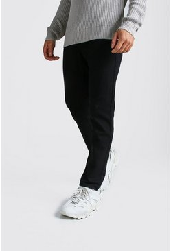 Mens Black Slim Rigid Jeans