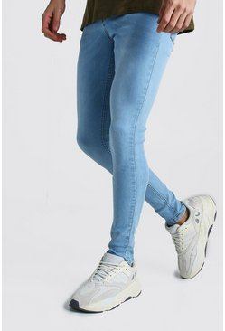 Light blue Spray On Skinny Jeans