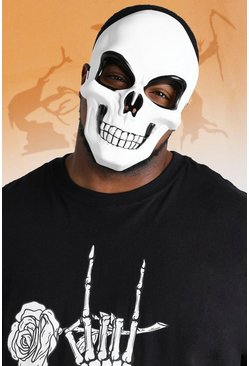 Mens White Halloween Full Face Skull Mask