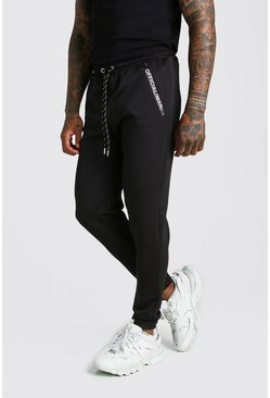 Mens Black Official MAN Scuba Jogger With Contrast Detail
