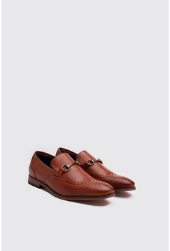 Tan Faux Leather Shaffle Loafer