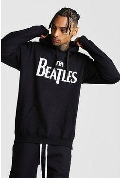Mens Black Beatles License Hoodie