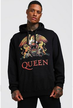 Mens Black Queen License Hoodie