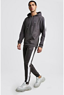 Mens Pearl Original MAN Half Zip Hooded Tracksuit With Panels