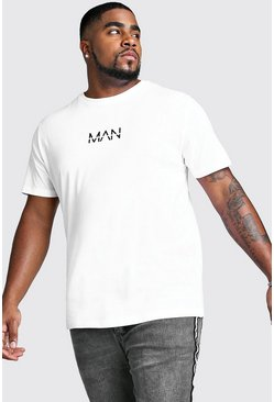 T-shirt MAN Dash big and tall, Blanc