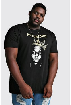 T-shirt Notorious Biggie officiel big and tall, Noir