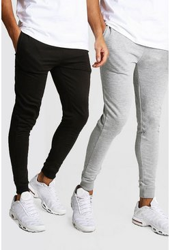 Mens Multi 2 pack Super Skinny Fit Jogger