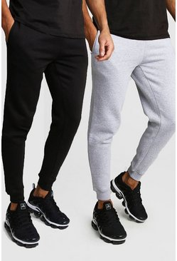 Mens Multi 2 Pack Skinny Fit Jogger