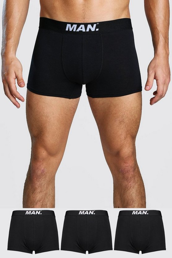 Black 3 Pack MAN Dot Trunk