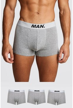 Grey marl 3 Pack MAN Dot Trunk