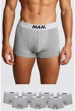 Grey marl 7 Pack MAN Dot Trunk